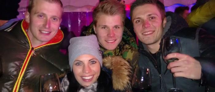 Manu, Janine, Flo und Daniel: SO schaut Spaß aus ;-)
